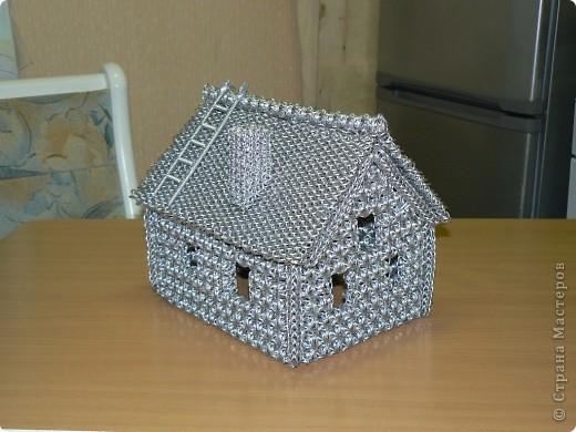 Как сделать дом из газетных трубочек