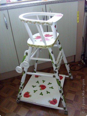 декупаж детского стула.