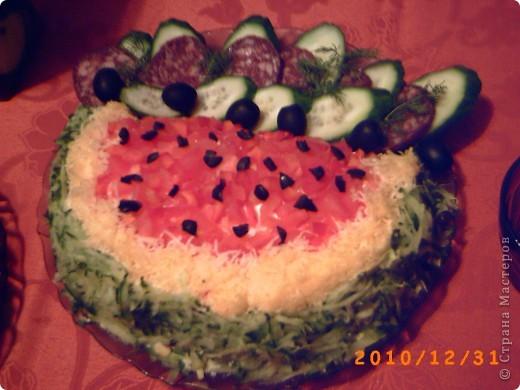 "Кулинария Рецепт кулинарный: салат ""АРБУЗИК"" Овощи, фрукты, ягоды"
