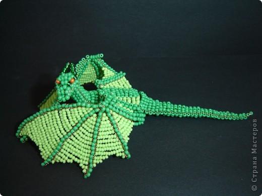 Игрушка, Поделка, изделие Бисероплетение: ДРАКОН. Бисер, Проволока. Фото 5