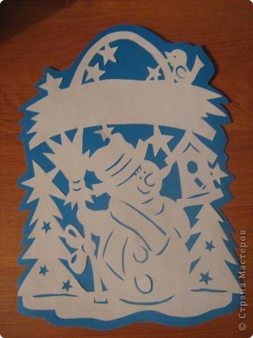 Поделка, изделие Вырезание: Новый год прошел, а настроение осталось) Бумага Новый год. Фото 6