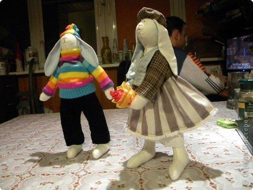 Мастер-класс, Шитьё, : Как заставить зайца стоять :) Ткань . Фото 1