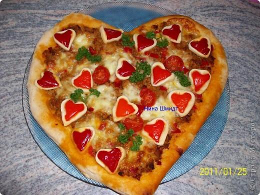 Кулинария Рецепт кулинарный: Пицца...Валентинка... Продукты пищевые. Фото 1