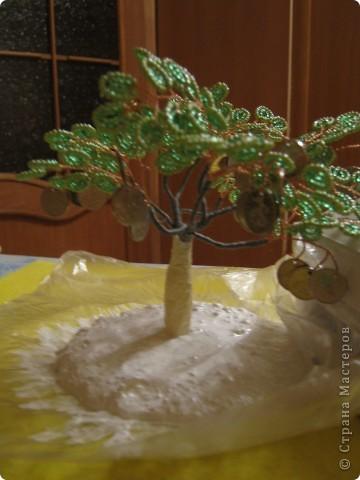 Мастер-класс, Бисероплетение, : МК Денежное деревце Бисер . Фото 16