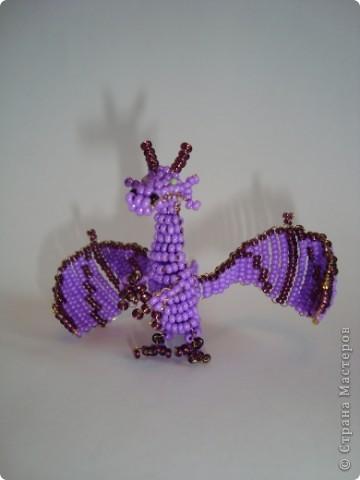 Игрушка, Поделка, изделие Бисероплетение: ДРАКОН. Бисер, Проволока. Фото 1 как сплести из бисера дракона, бисерный дракон, схема плетения бисерного дракона, Хьюго Пьюго рукоделие, http://idi-k-nam.ru/rubric/2831298/,