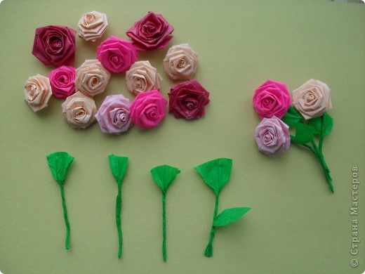 Цветок из гофрированной бумаги на открытку своими руками