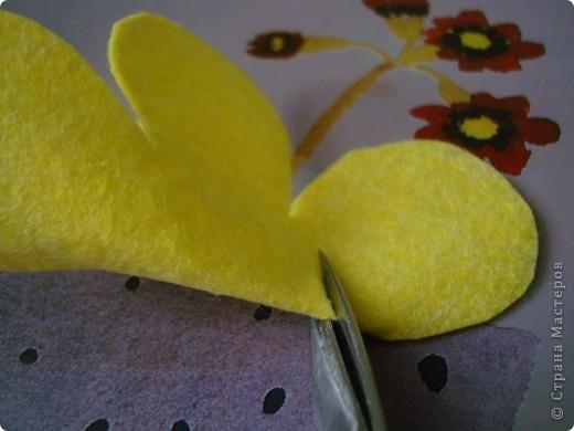 زينة من قماش لجوخ اعمال فنية بالجوخ طريقة فراشة