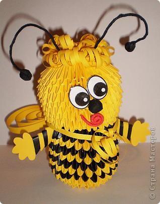 Пчёлка из пластиковых бутылок своими руками 51