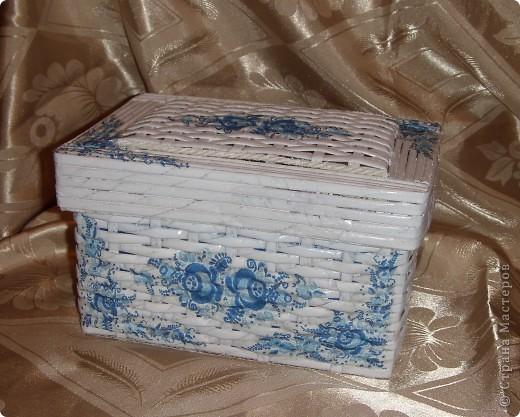 Плетение из бумаги шкатулки
