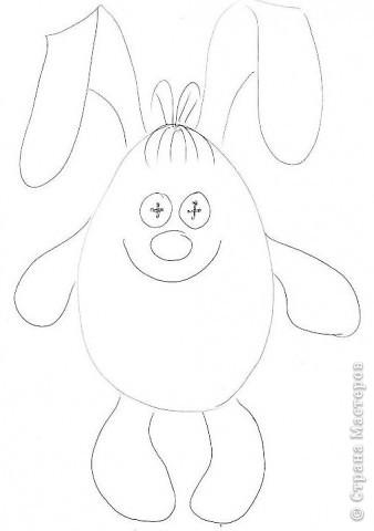 Игрушка Шитьё: Мартовский заяц Ткань. Фото 2