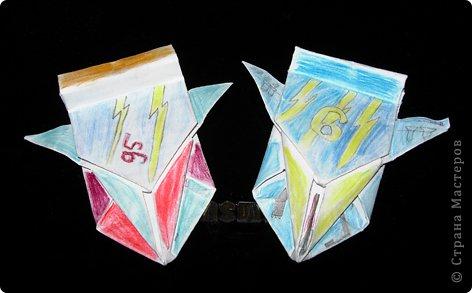 Поделки для мальчиков Оригами: Машинки Бумага.  Фото 1.