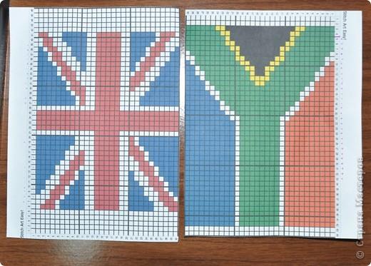Бисероплетение: флаги из