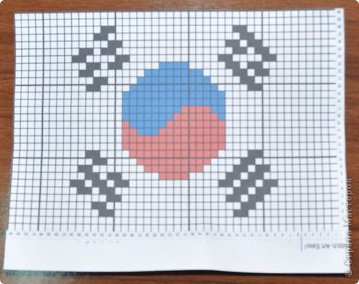 флаг из бисера серьги
