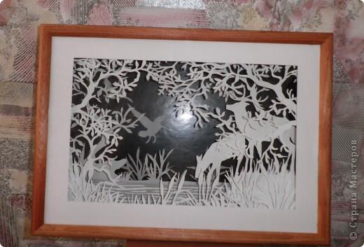 Картина, рисунок, панно Бумажный туннель: Заповедная даль Бумага. Фото 1