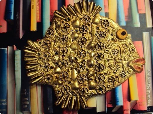 Поделка, изделие Лепка: макаронная рыба Гипс, Ракушки, Тесто соленое