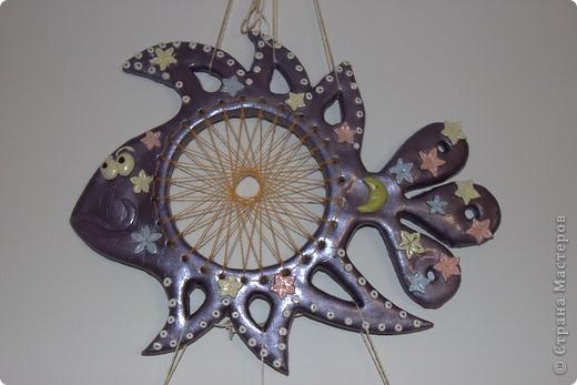 Поделка, изделие Плетение: Как я плела паутинку к своей рыбке-ловцу снов Тесто соленое. Фото 1