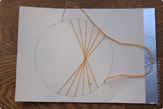 Поделка, изделие Плетение: Как я плела паутинку к своей рыбке-ловцу снов Тесто соленое. Фото 8