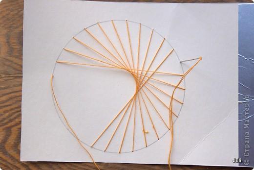 Поделка, изделие Плетение: Как я плела паутинку к своей рыбке-ловцу снов Тесто соленое. Фото 10