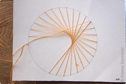 Поделка, изделие Плетение: Как я плела паутинку к своей рыбке-ловцу снов Тесто соленое. Фото 11