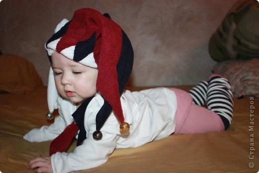 Гардероб, Мастер-класс,  Шитьё, : Шутовской колпак Бусинки, Ткань Новый год, . Фото 2