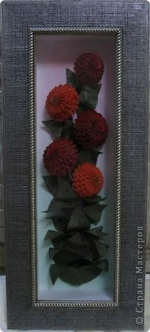 Картина, панно, рисунок Квиллинг: Цинии и эхинацеи Бумага. Фото 1