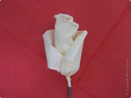 Хочу поделиться с Вами техникой изготовления роз из бумажных салфеток.Долго пыталась найти в интернете розы из салфеток. которые были бы похожи на настоящие. Мой сын очень критически оценивал все мои попытки. Только после положительной оценки самого строгого критика решила показать свою работу на всеобщее обозрение.. Фото 17