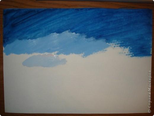 Начинаем рисовать небо.