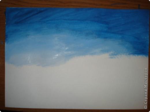 Мастер-класс, Урок рисования Рисование и живопись: Закат. Гуашь. Фото 3