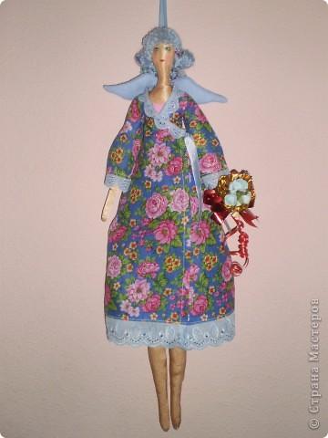Куклы Шитьё: Весенняя фея тильда с выкройкой.  Ткань.  Фото 2.