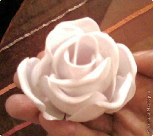 Розы из пластиковых ложек мастер класс