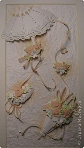 Картина, панно,  Бумагопластика, : Зонтики Бумага . Фото 1