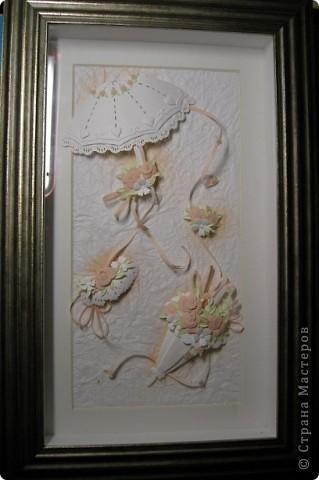 Картина, панно,  Бумагопластика, : Зонтики Бумага . Фото 4