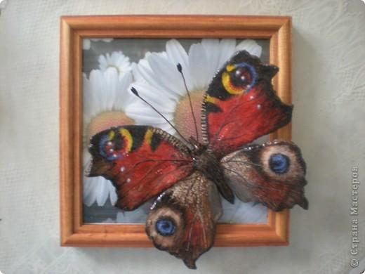 Картина, панно, Мастер-класс,  Лепка, Роспись, : Бабочка. Небольшой МК Гуашь, Проволока, Тесто соленое . Фото 1
