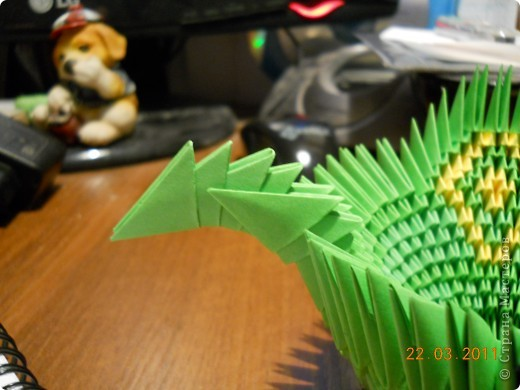Мастер-класс,  Оригами модульное, : Друг для Тимоши Бумага . Фото 15