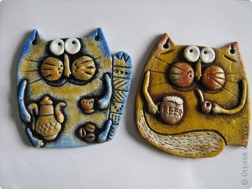 Очередные коты! Очень легко лепятся и еще легче разрисовываются)) . Фото 1