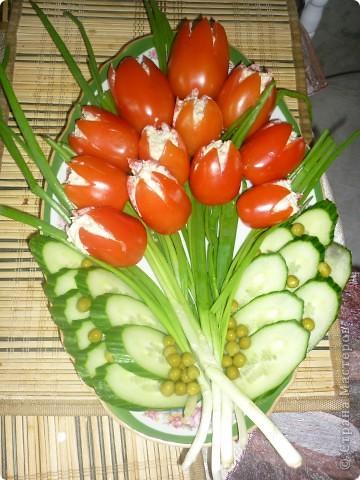 Кулинария, Мастер-класс Рецепт кулинарный: ПОМИДОРЫ ? ИЛИ БУКЕТ ЦВЕТОВ? Овощи, фрукты, ягоды 8 марта. Фото 1