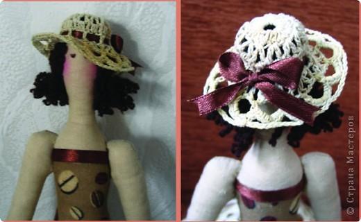 Куклы Вязание крючком: Ажурные шляпки Нитки.  Фото 2.
