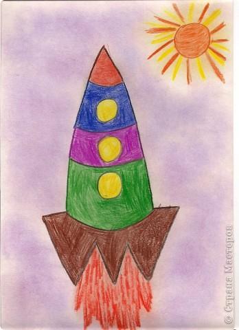 Рисунок ракеты карандашом