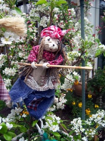 Куклы, Мастер-класс, Оберег Шитьё: Баба-Яга - костяная нога Вата, Нитки, Ткань. Фото 1