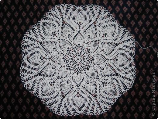 Вязание крючком: Ажурные салфетки. Нитки. Фото 3
