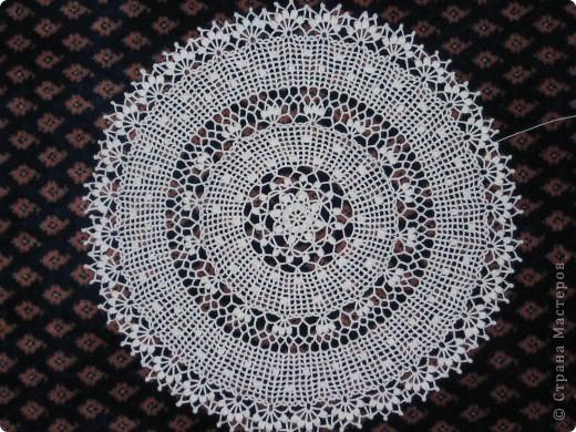 Вязание крючком: Ажурные салфетки. Нитки. Фото 4