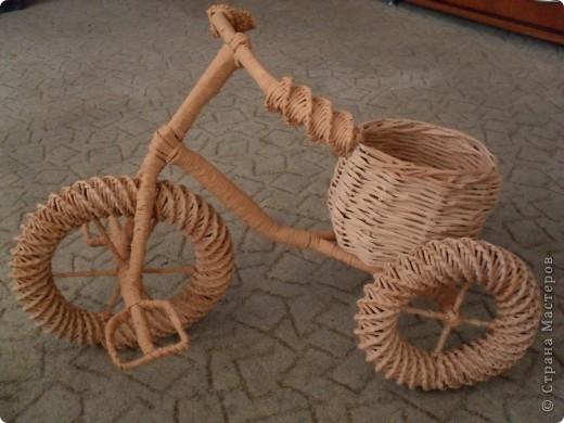 Газетные трубочки велосипед мастер класс