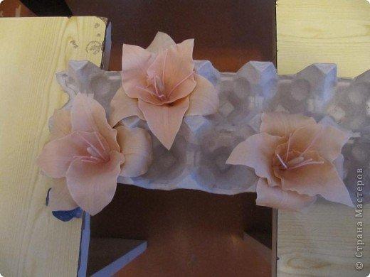 Мастер-класс Лепка: Гладиолус из ХФ. Фарфор холодный. Фото 12