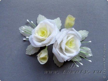 Мастер-класс цветы из ткани. Белая роза без специальных инструментов. Гофрированная.. Фото 1