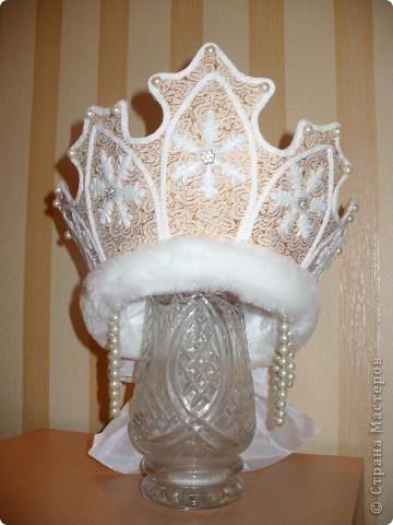 Сделать корону снегурочки своими руками фото