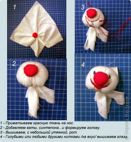 Клоун своими руками из ткани простой