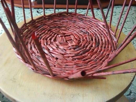 Мастер-класс,  Плетение, : Корзина - Мастер - класс для вас Бумага газетная . Фото 19