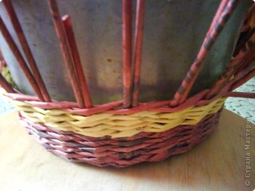 Мастер-класс,  Плетение, : Корзина - Мастер - класс для вас Бумага газетная . Фото 25