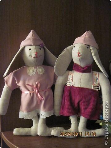 Коллективная работа, Мастер-класс Шитьё: Шьём вместе  Тильдо-зайца! Ткань. Фото 14