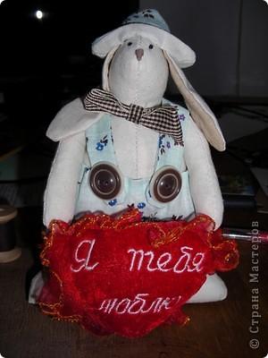 Коллективная работа, Мастер-класс Шитьё: Шьём вместе  Тильдо-зайца! Ткань. Фото 13
